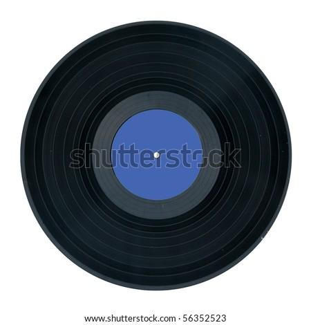 vinyl record isolated on white background - stock photo