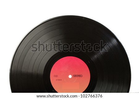 Vinyl record LP discs on white - stock photo