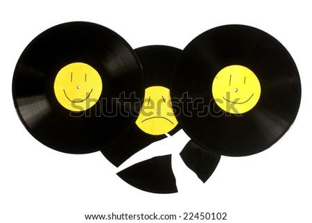 Vinyl, vintage. - stock photo