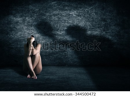 Violence against women. - stock photo