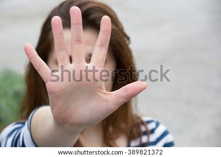 Violence against women - stock photo