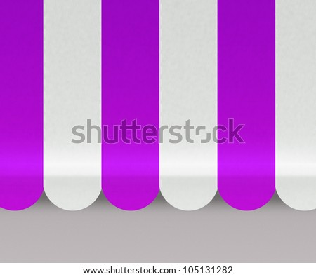 Violet Awnings Background - stock photo