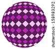 Violet ball isolated on a white background - stock photo