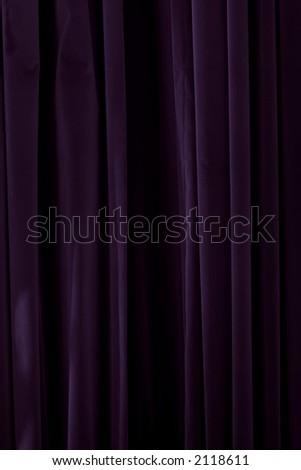 violet drapes with satin velvet light effect - stock photo
