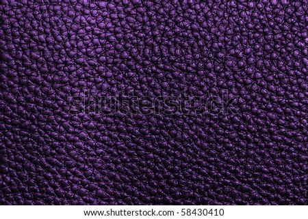 Violet leather texture - stock photo