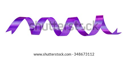 violet ribbon over white background, design element - stock photo