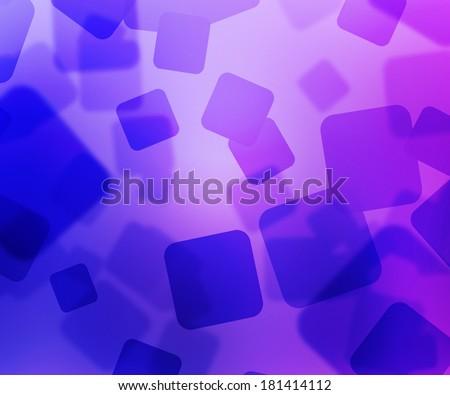 Violet Squares Bokeh - stock photo