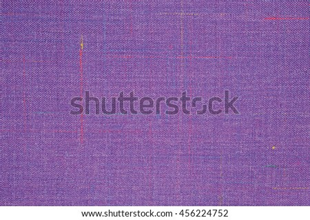 Violet Vintage Tweed Wool Fabric Background Texture Pattern, Large Detailed Horizontal Textured Macro Closeup, Purple, Yellow, Blue, Red, Green Stripe Mixture Detail, Rough Casual Style Textile  - stock photo