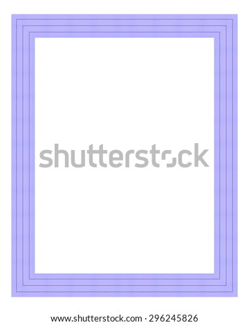 Violet wooden frame isolated on white background. Contemporary picture frames in high resolution vibrant colors. Wood photo frame. Wooden frame for paintings or photographs. - stock photo