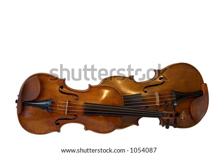 Violin and viola I - stock photo