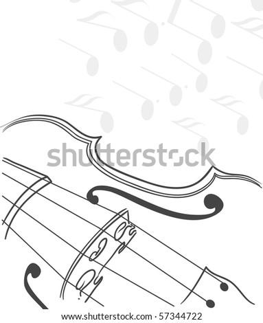 violin background.raster - stock photo