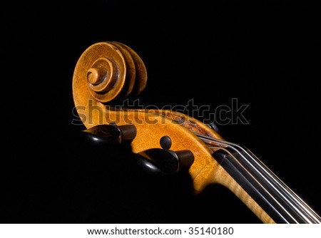 violin details with board and pegs - stock photo