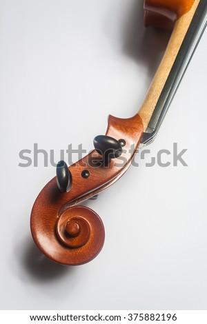 violin head - stock photo