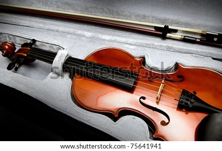violin in a suitcase