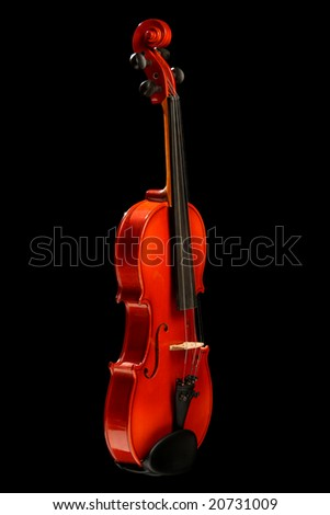 Violin, isolated on black background - stock photo