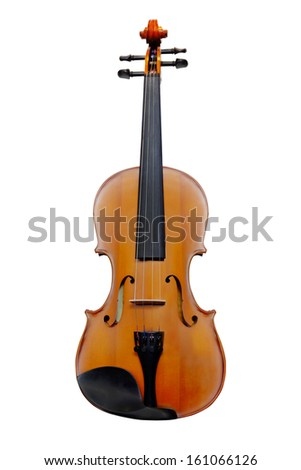 Violin isolated under the white background - stock photo