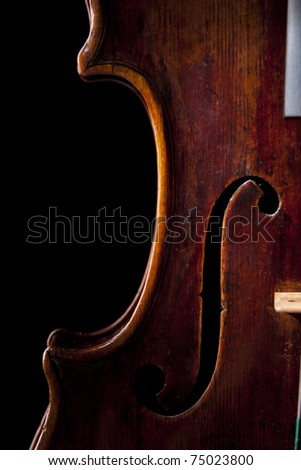 violin music string art instrument old baroque - stock photo