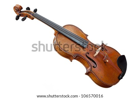 violoncello isolated under the white background - stock photo