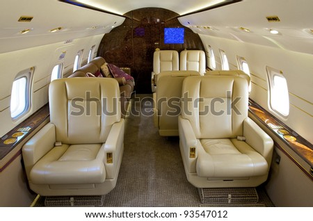 VIP Business Interior Jet Airplane