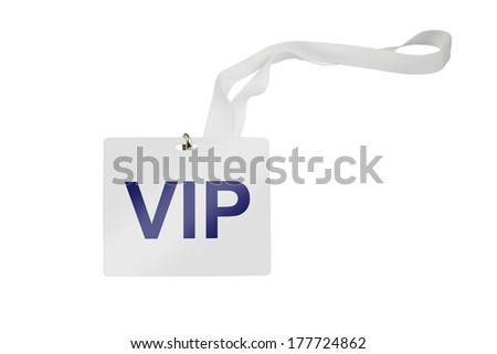 vip labeled pass isolated on white background - stock photo