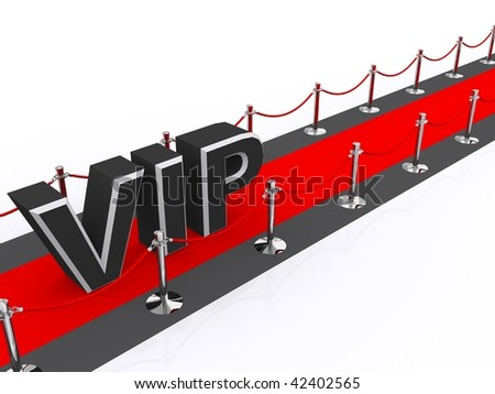 VIP red carpet - stock photo
