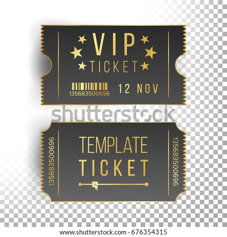 Vip Ticket Template Empty Black Tickets Stockillustration 676354315 ...