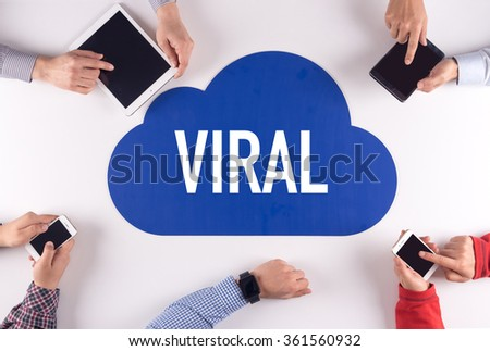VIRAL Group of People Digital Devices Wireless Communication Concept