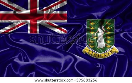 Virgin Islands silk flag - stock photo