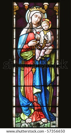 Virgin Mary with baby Jesus - stock photo