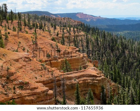 Virgin Rim, Dixie National Forest - stock photo