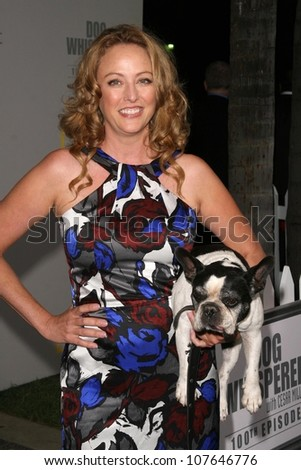 Virginia Madsen at the party to celebrate the 100th Episode of 'Dog Whisperer'. Boulevard 3, Hollywood, CA. 09-17-08 - stock photo