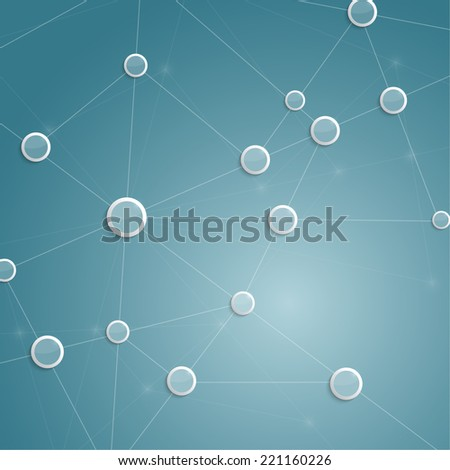 Virtual abstract background with particle,  molecule structure. genetic and chemical compounds. creative. Space and constellations. Science and connection concept. Social network. - stock photo