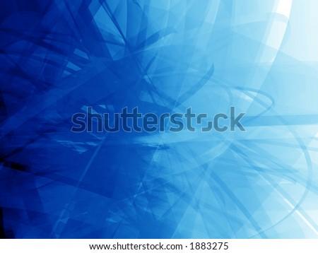 Virtual blue grunge background - stock photo