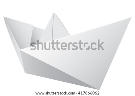 Virtual image of a origami on a white background