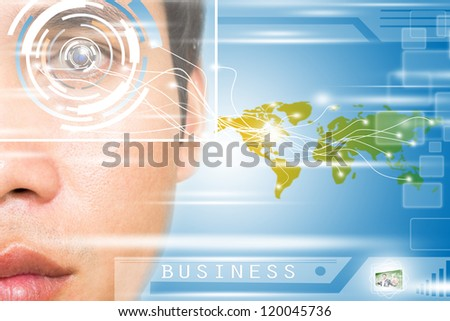 Virtual Office 2030  Concept - stock photo