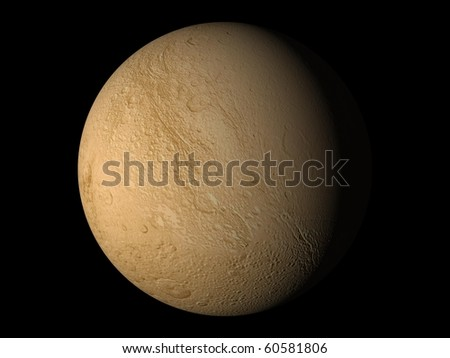 Virtual Planets Dione Moon 02 - stock photo