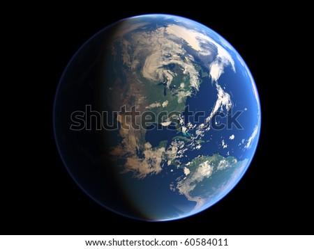 Virtual Planets Earth Planet 03 - stock photo