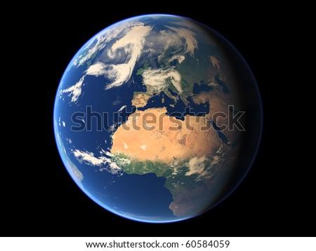 Virtual Planets Earth Planet 01 - stock photo