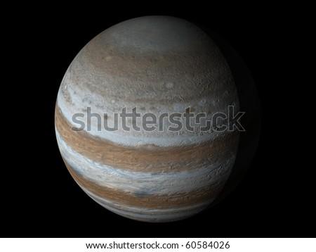 Virtual Planets Jupiter Planet 02 - stock photo