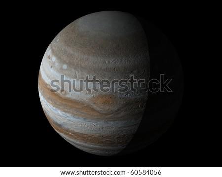 Virtual Planets Jupiter Planet 04 - stock photo