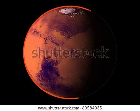 Virtual Planets Mars Planet 04 - stock photo