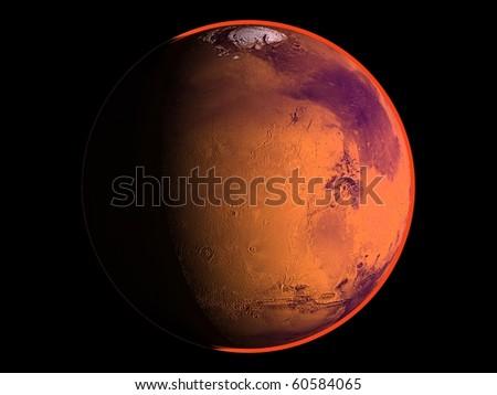 Virtual Planets Mars Planet 03 - stock photo