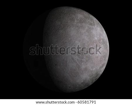 Virtual Planets Moon Moon 03 - stock photo