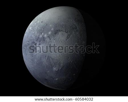 Virtual Planets Pluto Planet 04 - stock photo