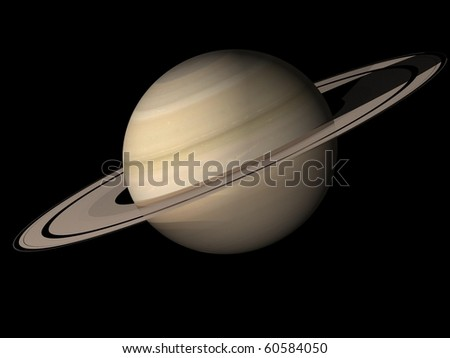 Virtual Planets Saturn Planet - stock photo