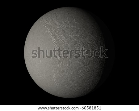 Virtual Planets Tethys Moon 02 - stock photo