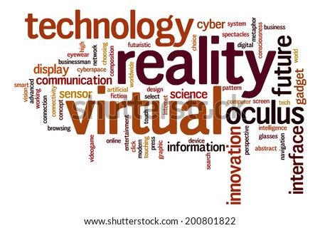 Virtual reality concept word cloud background
