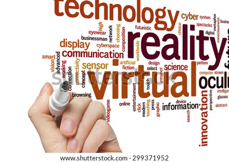Virtual reality concept word cloud background - stock photo
