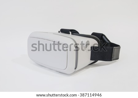 Virtual reality headset - stock photo
