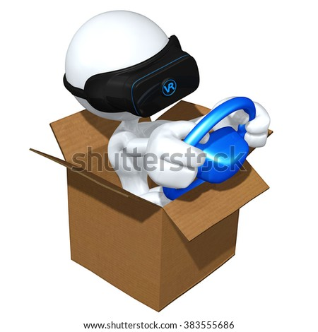 Virtual Reality VR Driving Games - stock photo